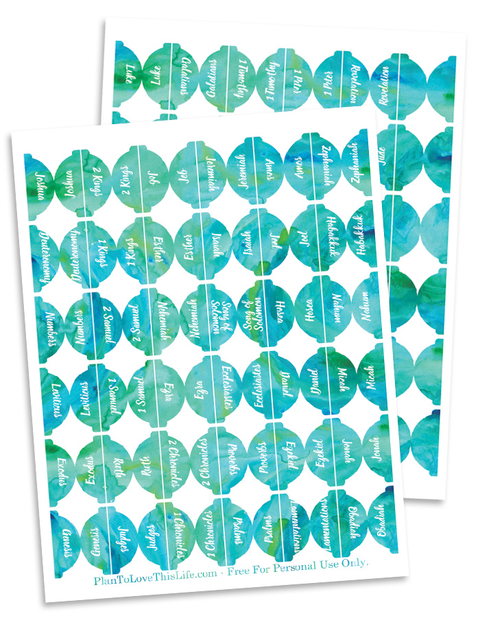 photograph regarding Printable Bible Tabs named Freebie Watercolor Bible Tab Printables
