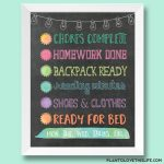 Child's Night Checklist
