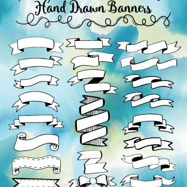 Hand Drawn Banners Printable
