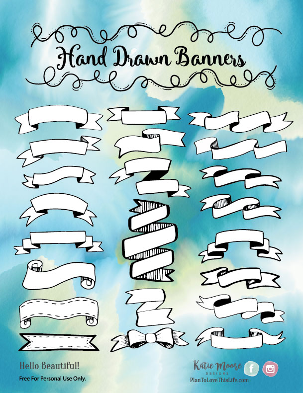 Hand Drawn Banners Printable 1