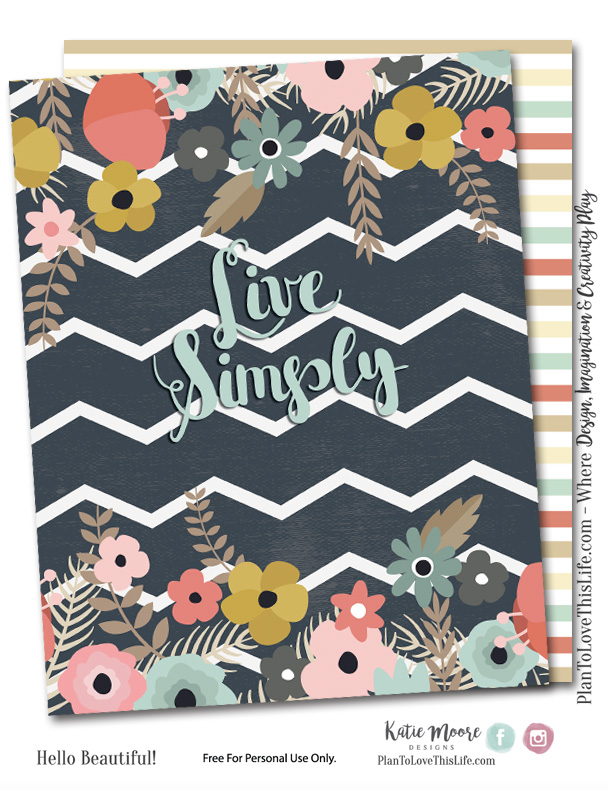Happy Planner Cover Printable Live Simply