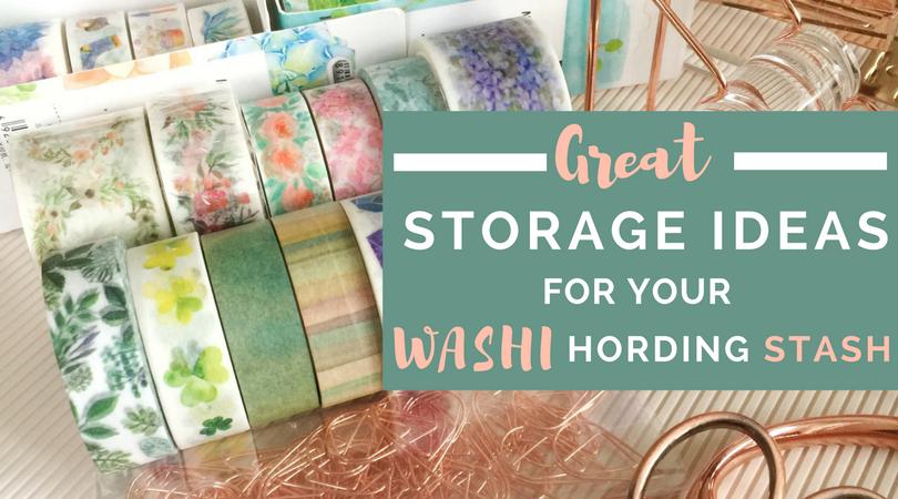 DIY Washi Storage and Ideas