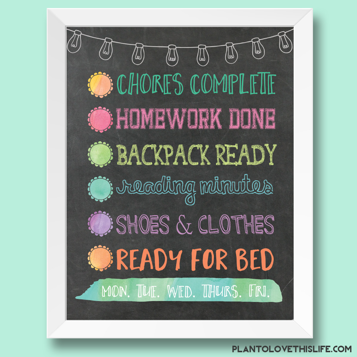Child's Night Checklist 1