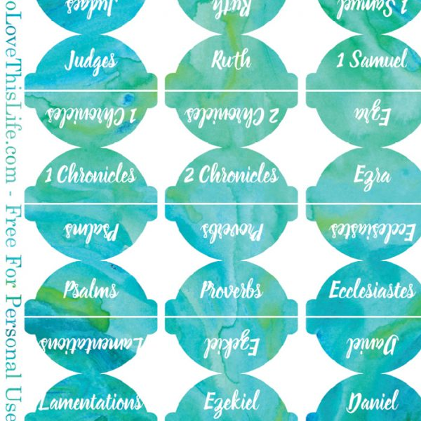 Freebie Watercolor Bible Tab Printables